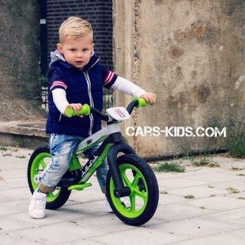 Легкий беговел в стиле трюкового Chillafish BMXie зеленый (резиновые колеса)