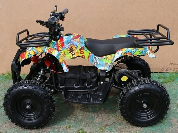Детский квадроцикл на аккумуляторе MOTAX Mini Grizlik Х-16 мощностью 800W или 1000W (пульт контроля, до 30 или 35 км/ч)