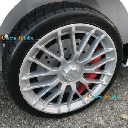 Электромобиль Mercedes-Benz SL65 AMG белый (колеса резина, кресло кожа, пульт, музыка)
